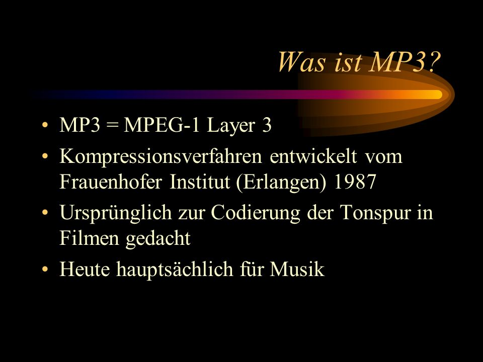 Was ist MP3.