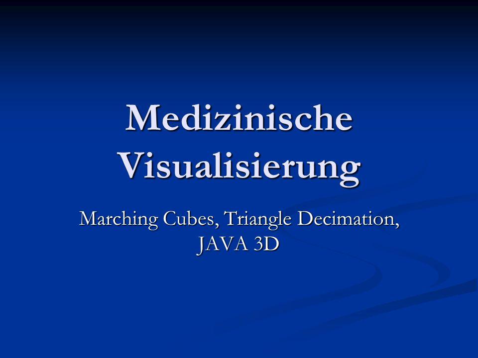 Aufgabenstellung Aus den Schnittbildern des Magnetresonanz- Verfahrens soll ein 3D- Modell generiert werden.