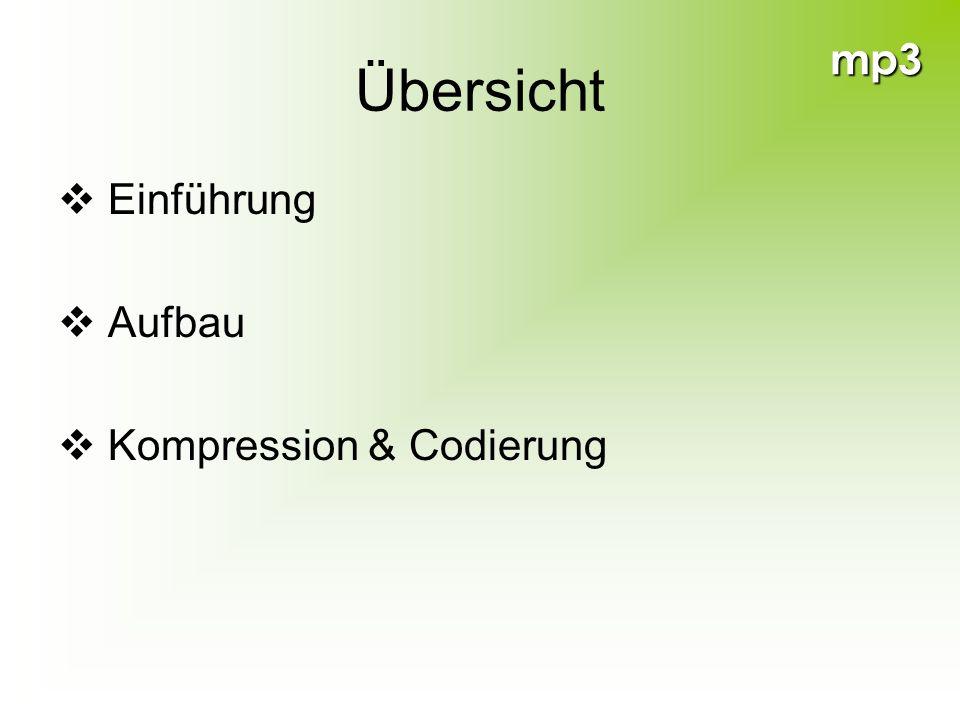 mp3 Übersicht Einführung Aufbau Kompression & Codierung