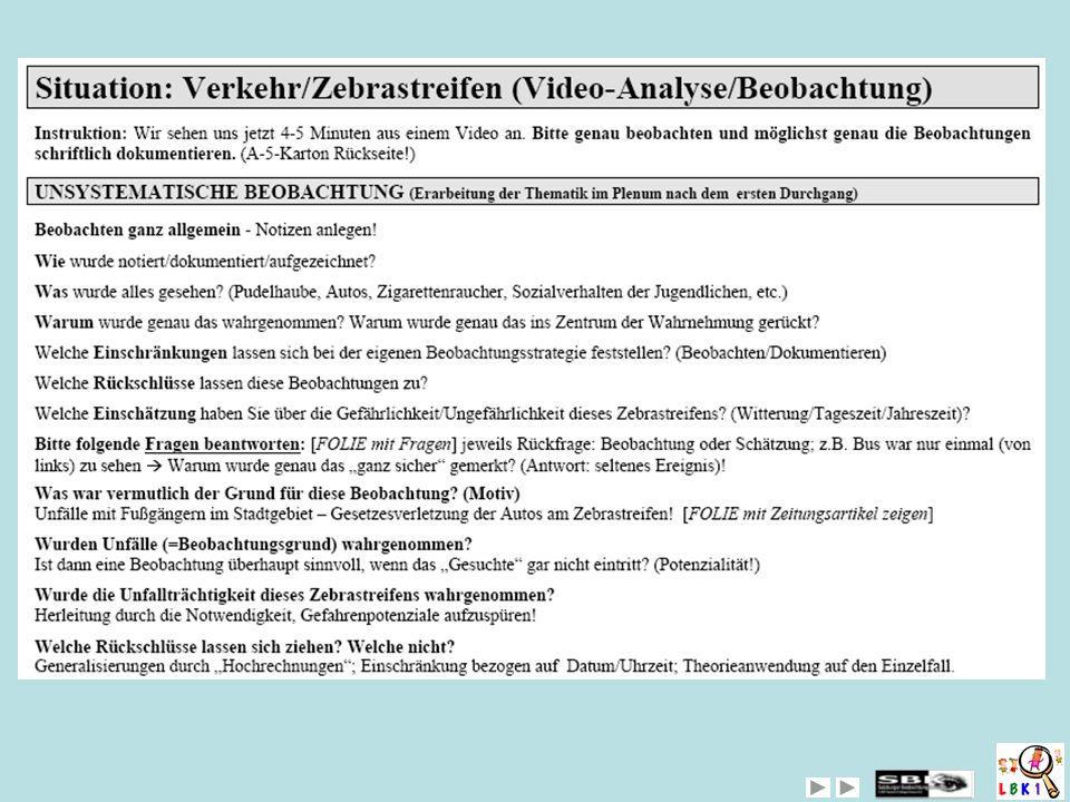 AHA-Evaluationsblatt: Critical Event als Beobachtungsmethode