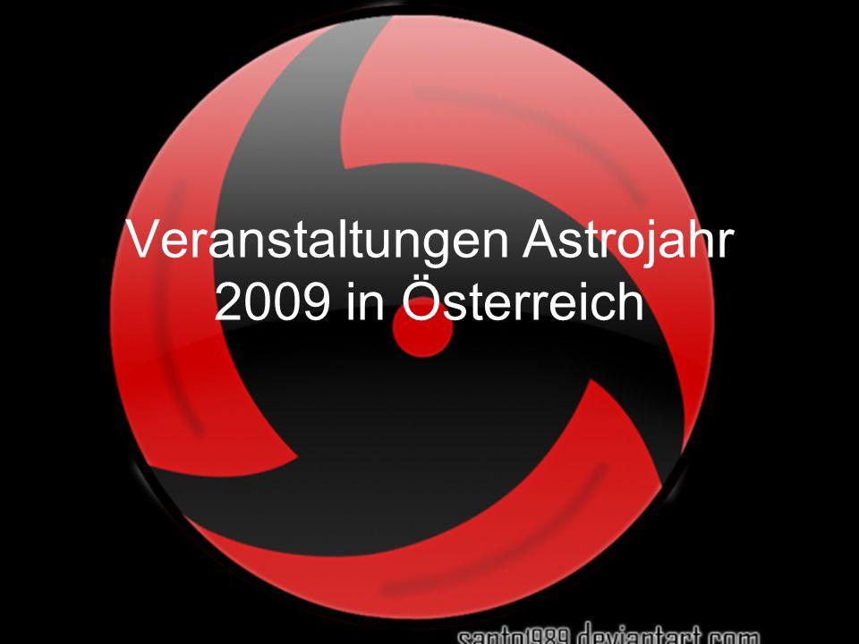 Veranstaltungen Astrojahr 2009 in Österreich