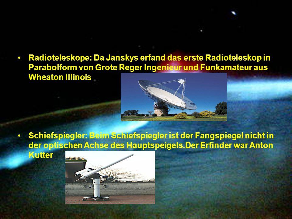 Radioteleskope: Da Janskys erfand das erste Radioteleskop in Parabolform von Grote Reger Ingenieur und Funkamateur aus Wheaton Illinois.