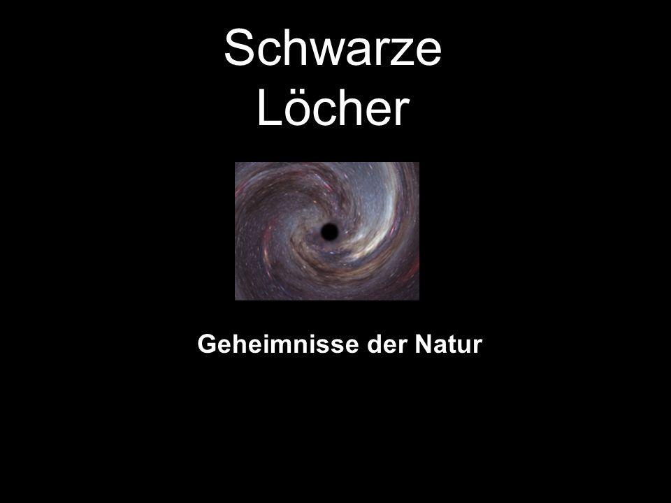 Schwarze Löcher Geheimnisse der Natur