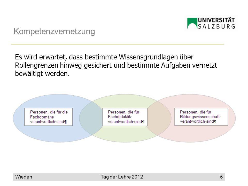 Wieden5 Kompetenzvernetzung Es wird erwartet, dass bestimmte Wissensgrundlagen über Rollengrenzen hinweg gesichert und bestimmte Aufgaben vernetzt bewältigt werden.