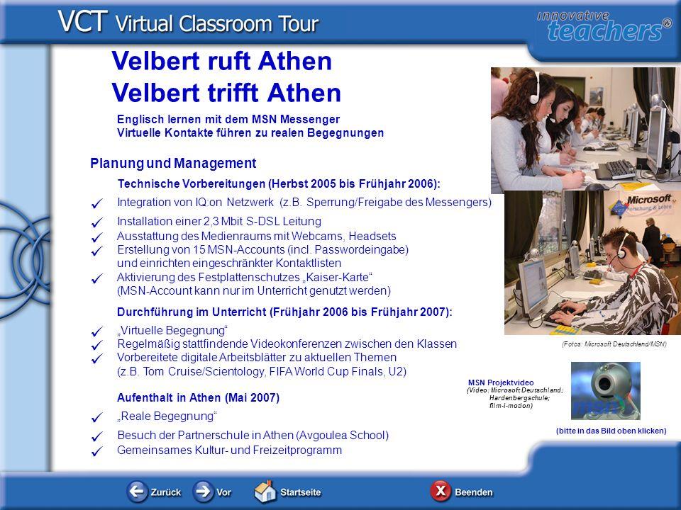 Planung und Management Technische Vorbereitungen (Herbst 2005 bis Frühjahr 2006): Integration von IQ:on Netzwerk (z.B. Sperrung/Freigabe des Messenger