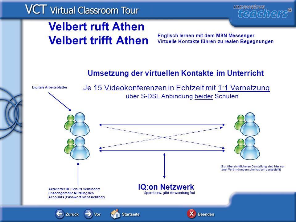 http://www.u2.com Exemplarisches Unterrichtsbeispiel Das digitale Arbeitsblatt zum Thema U2/Bono Vox wurde in Partnerarbeit durch 1:1 Vernetzung der Schüler (Hardenbergschule Avgoulaea School) via Videokonfernz bearbeitet.