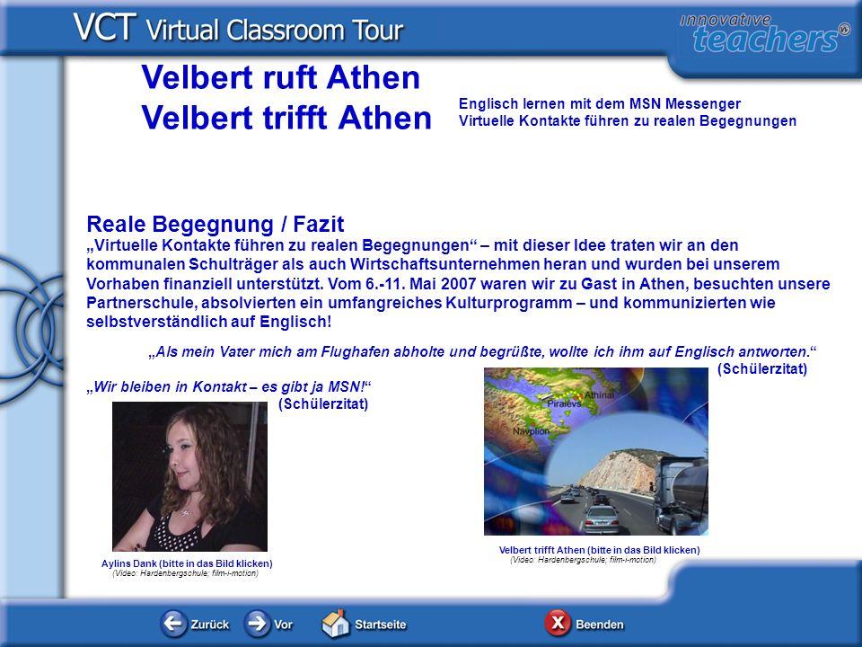 Wir bleiben in Kontakt – es gibt ja MSN! (Schülerzitat) Aylins Dank (bitte in das Bild klicken) (Video: Hardenbergschule; film-i-motion) Als mein Vate