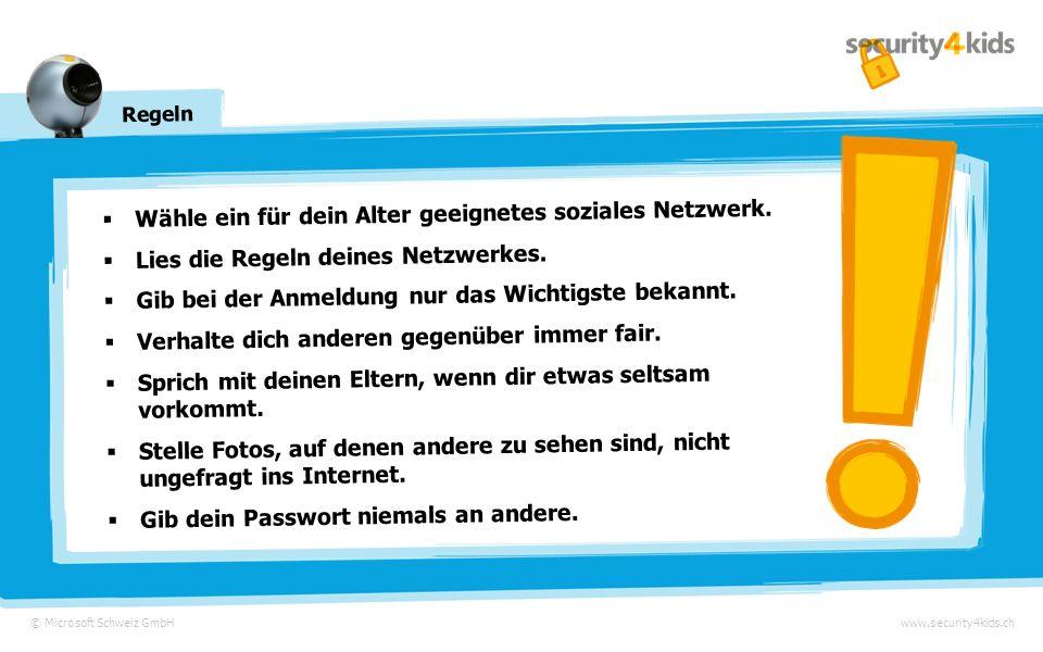© Microsoft Schweiz GmbHwww.security4kids.ch Ein Spass mit Folgen Am Abend klingelt es und Annas Vater steht vor der Tür …