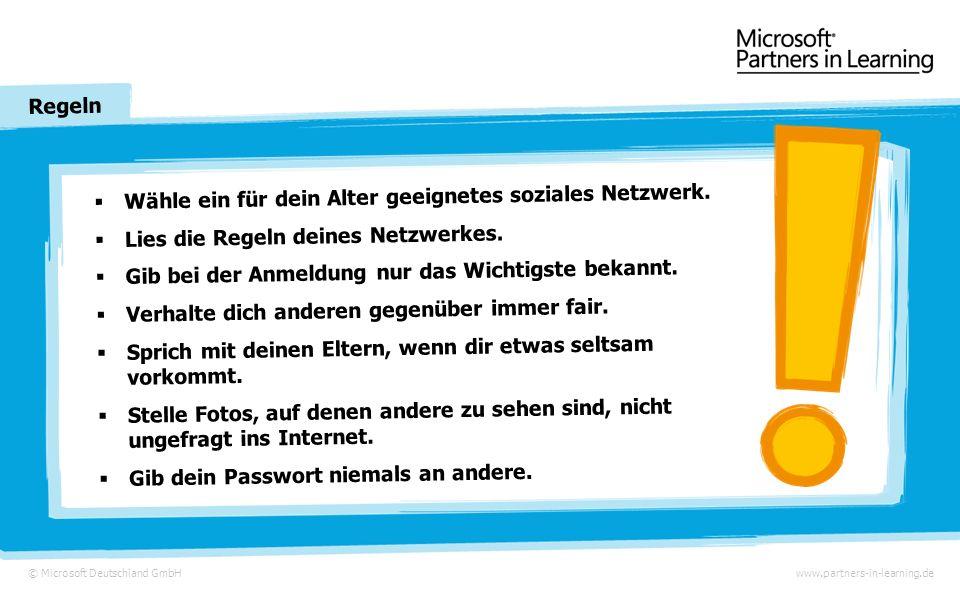 © Microsoft Deutschland GmbH Ein Spaß mit Folgen www.partners-in-learning.de Am Abend klingelt es und ihr Lehrer steht vor der Tür …