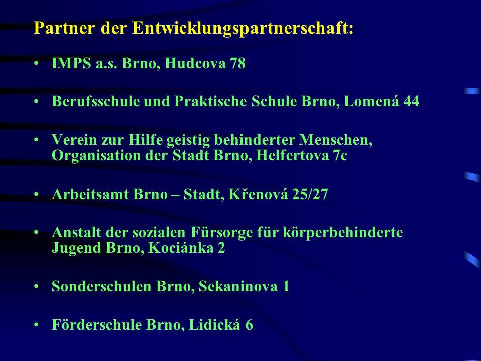 Partner der Entwicklungspartnerschaft: IMPS a.s.