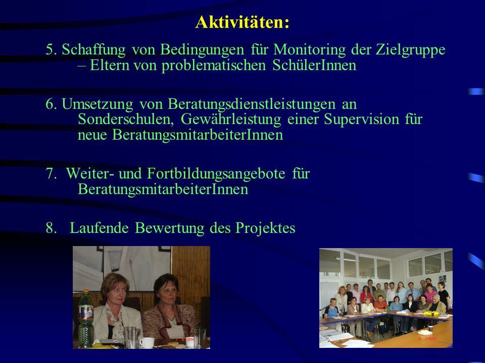 Aktivitäten: 9.Internationale Konferenz zum Thema Übergang Schule- Beruf – Brünn 2003 10.