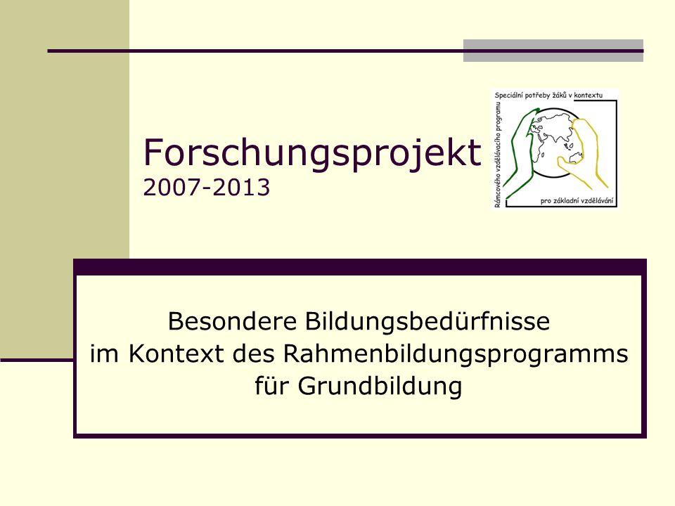 Forschungsprojekt 2007-2013 Besondere Bildungsbedürfnisse im Kontext des Rahmenbildungsprogramms für Grundbildung
