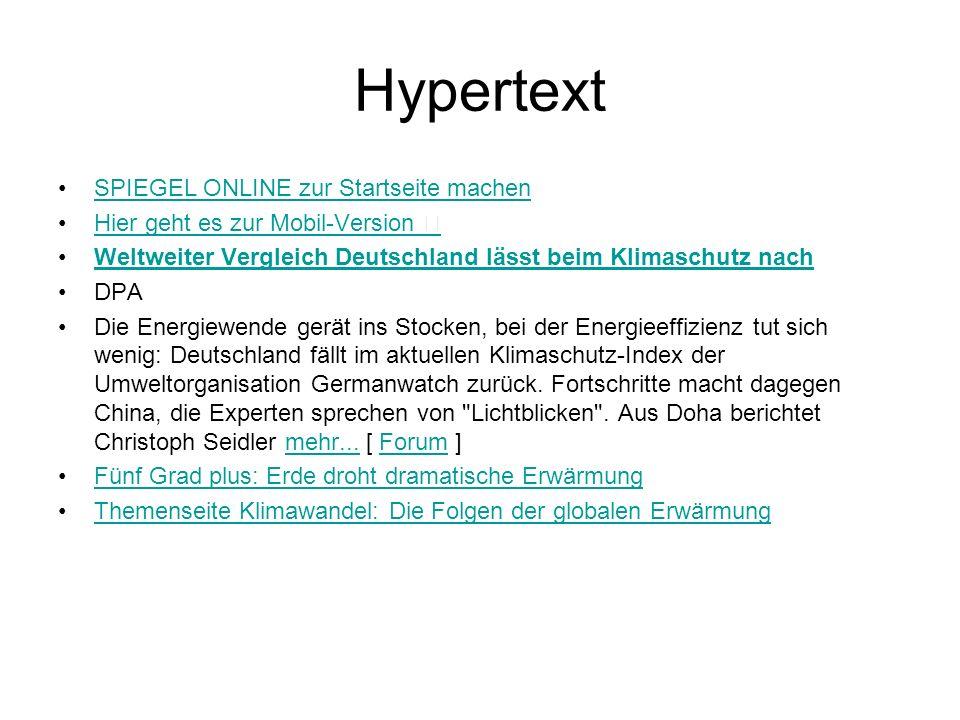 Hypertext SPIEGEL ONLINE zur Startseite machen Hier geht es zur Mobil-Version Weltweiter Vergleich Deutschland lässt beim Klimaschutz nach DPA Die Ene