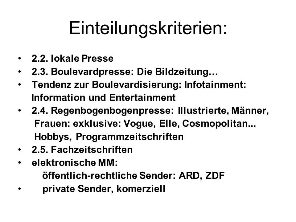Historische Aspekte:Entwicklung der MM Vorläufer: Flugblätter 15.
