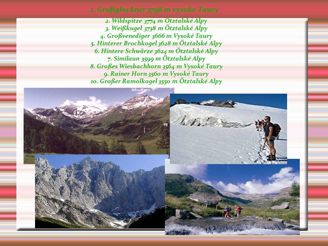 Das Land ist sehr gebirgig.Der höchste Berg ist der Großglockner (3.780m). Die Hochalpen und das Alpenvorland.