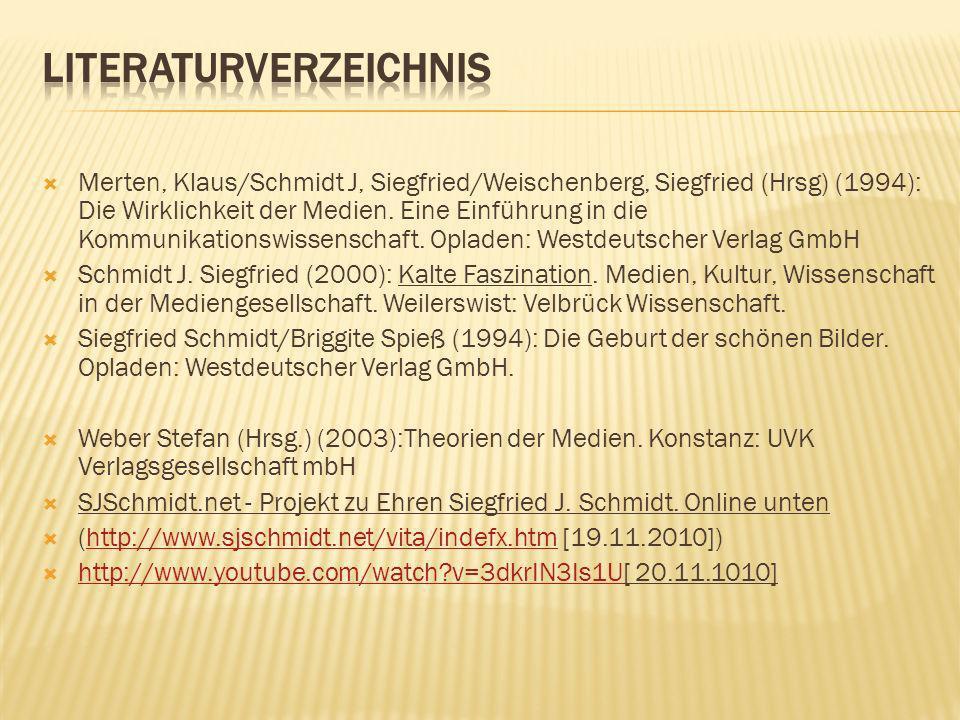 Siegfried Schmidt Konstruktivismus Wahrheit/Wirklichkeit - Wirklichkeitsmodellen Werbungen