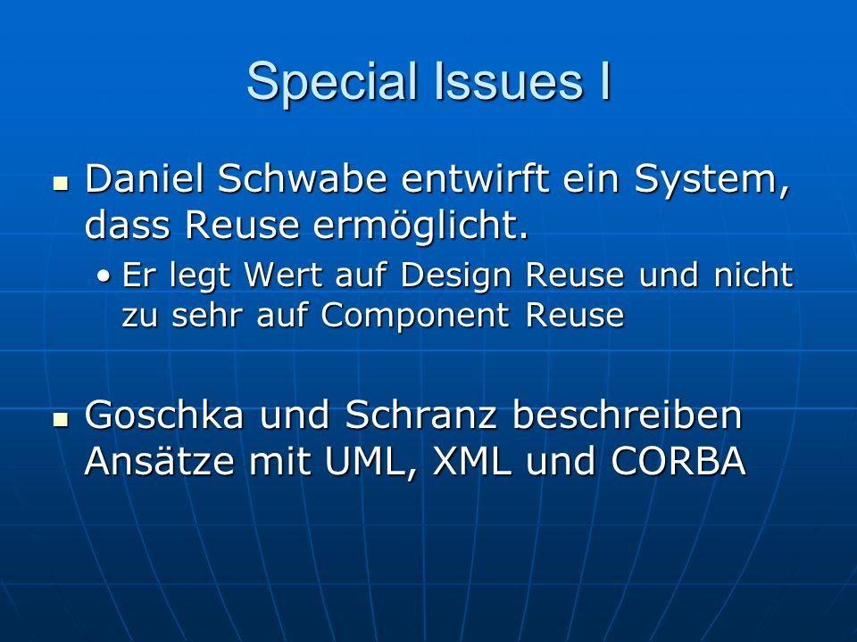 Special Issues I Daniel Schwabe entwirft ein System, dass Reuse ermöglicht.