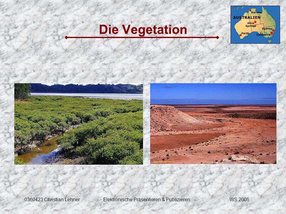 WS 20050360423 Christian LehnerElektronische Präsentieren & Publizieren Die Vegetation