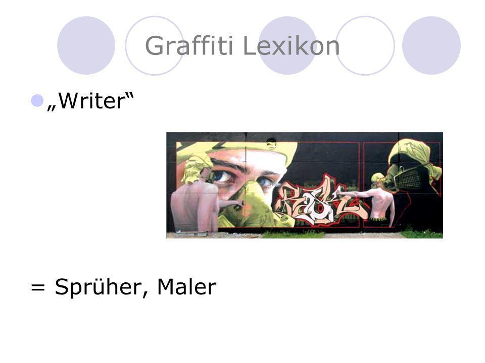 Graffiti Lexikon Tag = Signatur jedes Sprühers