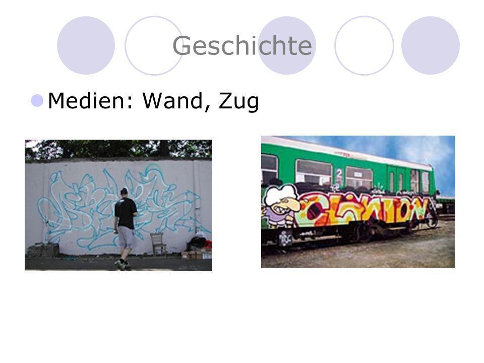 Geschichte Medien: Wand, Zug