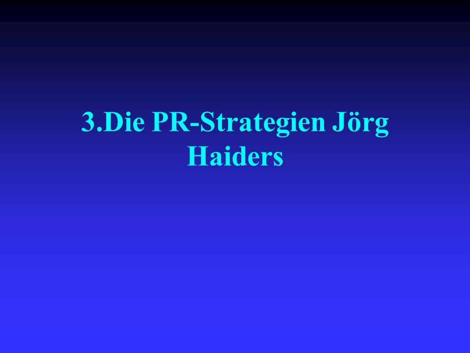 3.Die PR-Strategien Jörg Haiders