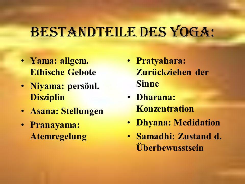 Yogaarten: Hatha- Yoga Gegensätzliche Energien vereinen Power- Yoga Einzelne Stellungen zu fließendem Ganzen verbunden