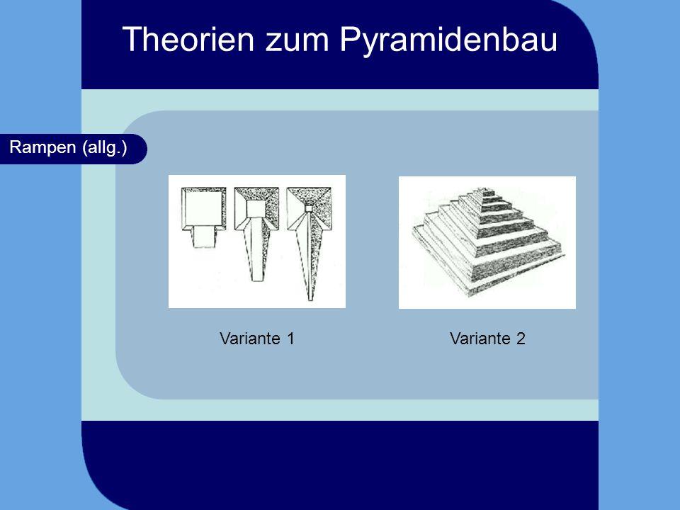 Rampen (allg.) Variante 1Variante 2 Theorien zum Pyramidenbau