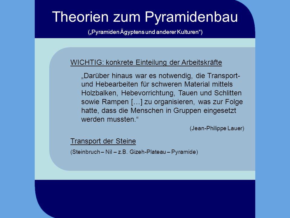Rampe (allg.) Theorien zum Pyramidenbau Danke für Ihr Aufpassen, Ihre Aufmerksamkeit und grenzenloses Interesse…!