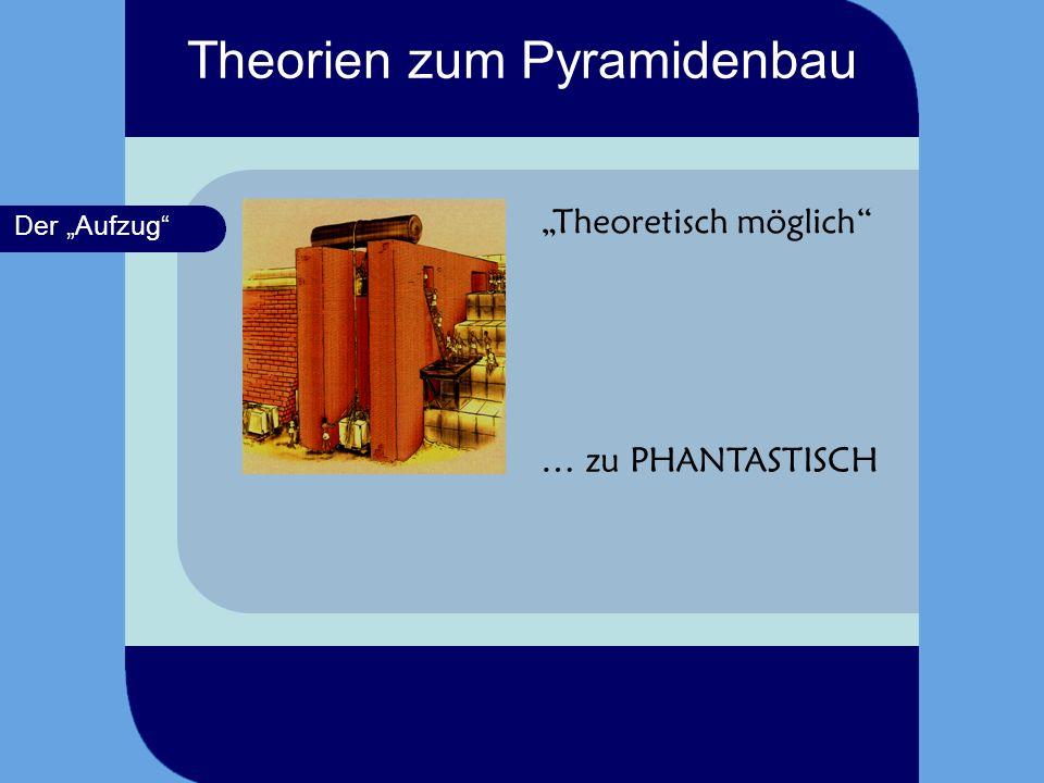 Der Schlitten Theoretisch möglich keinerlei Apparaturen wurden an den Pyramiden- flanken gefunden Theorien zum Pyramidenbau