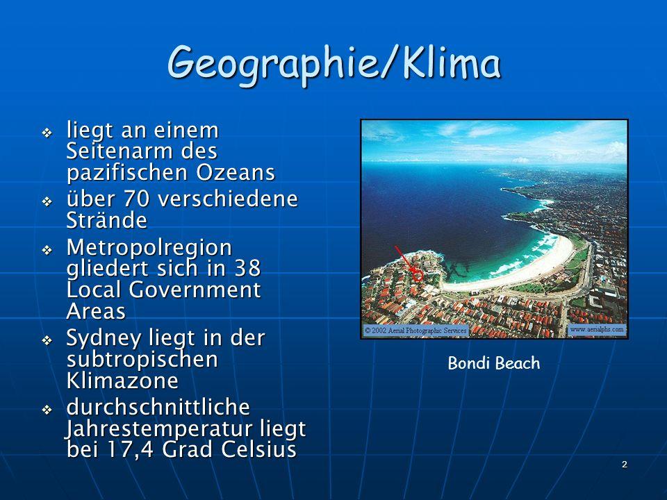 2 Geographie/Klima liegt an einem Seitenarm des pazifischen Ozeans liegt an einem Seitenarm des pazifischen Ozeans über 70 verschiedene Strände über 7