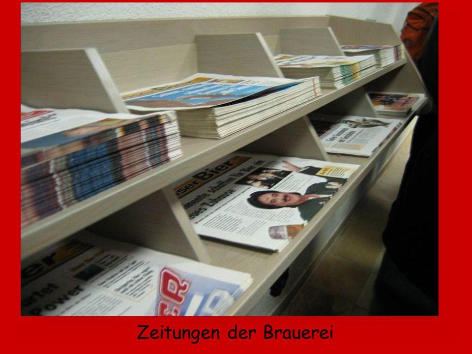 Zeitungen der Brauerei