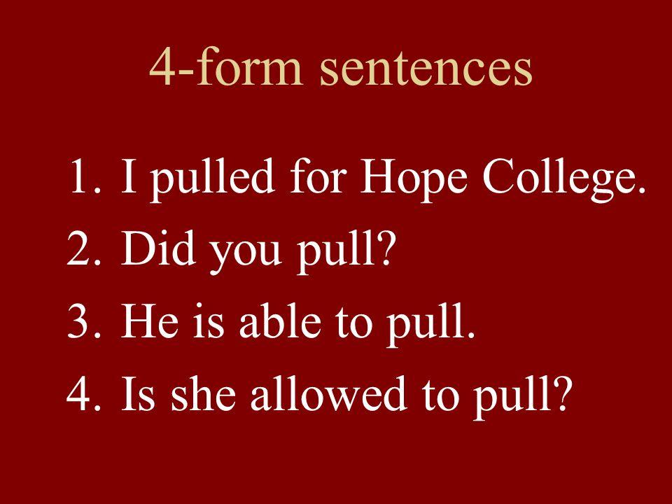 4-form sentences 1.Did you fall asleep.2.He wants to fall asleep.