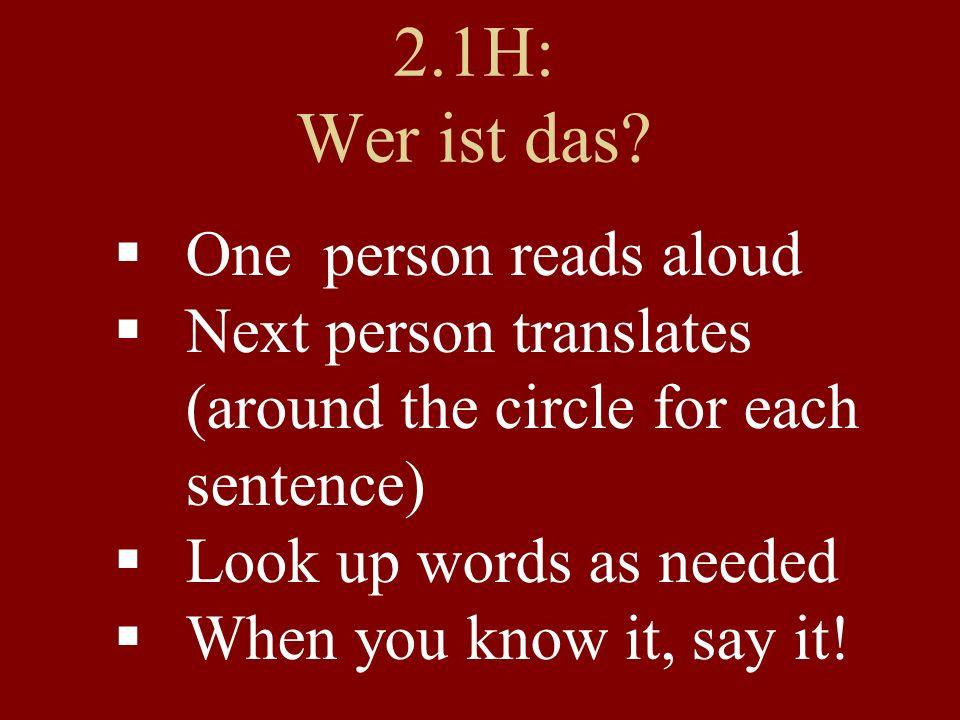 Verbs! reden (to...) ichwir duihr er/sie/essieSie