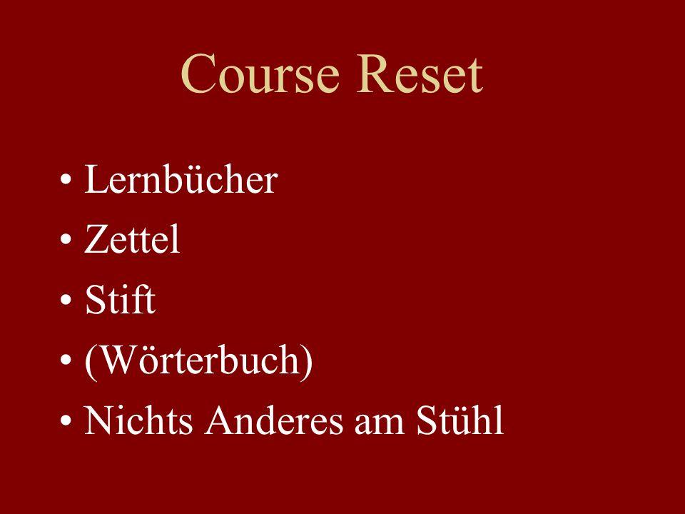 Course Reset Lernbücher Zettel Stift (Wörterbuch) Nichts Anderes am Stühl