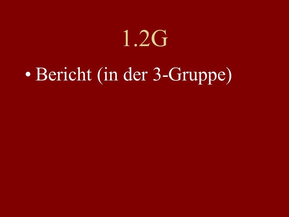 1.2G Bericht (in der 3-Gruppe)