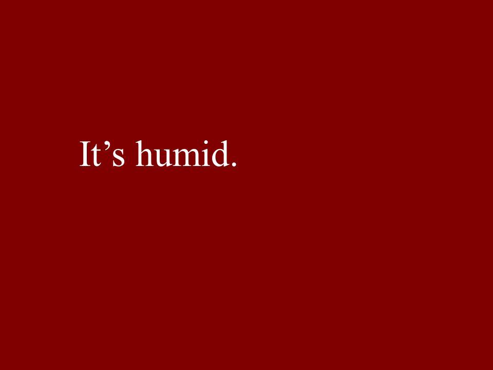 Its humid.