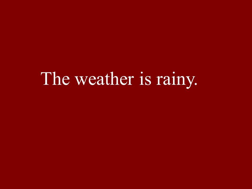 The weather is rainy.