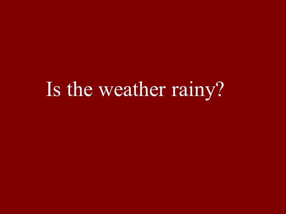 Is the weather rainy