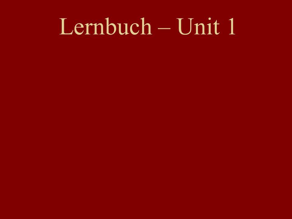 Lernbuch – Unit 1