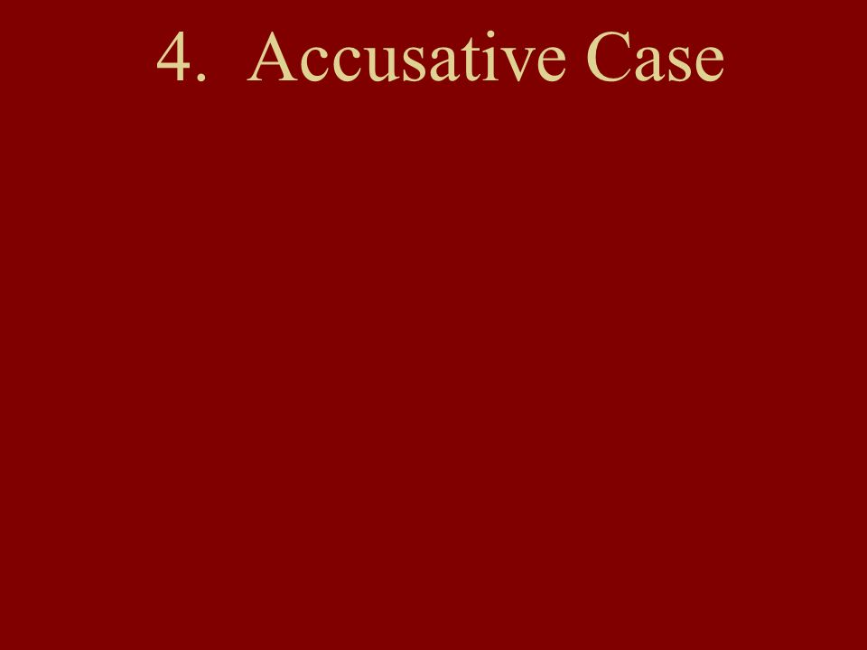 4. Accusative Case