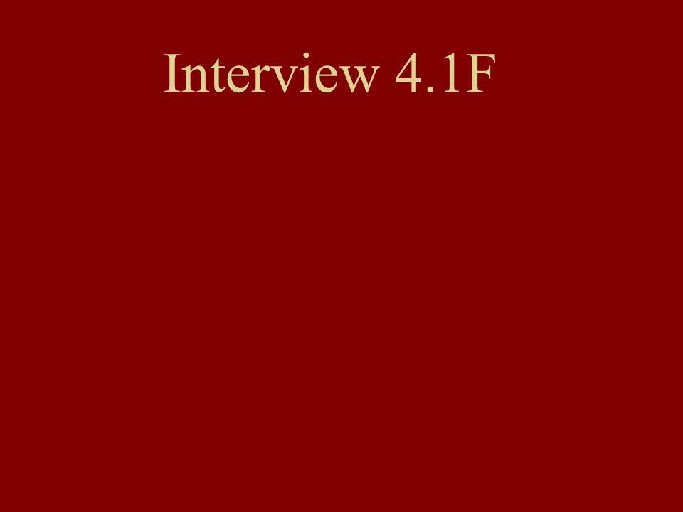 Interview 4.1F