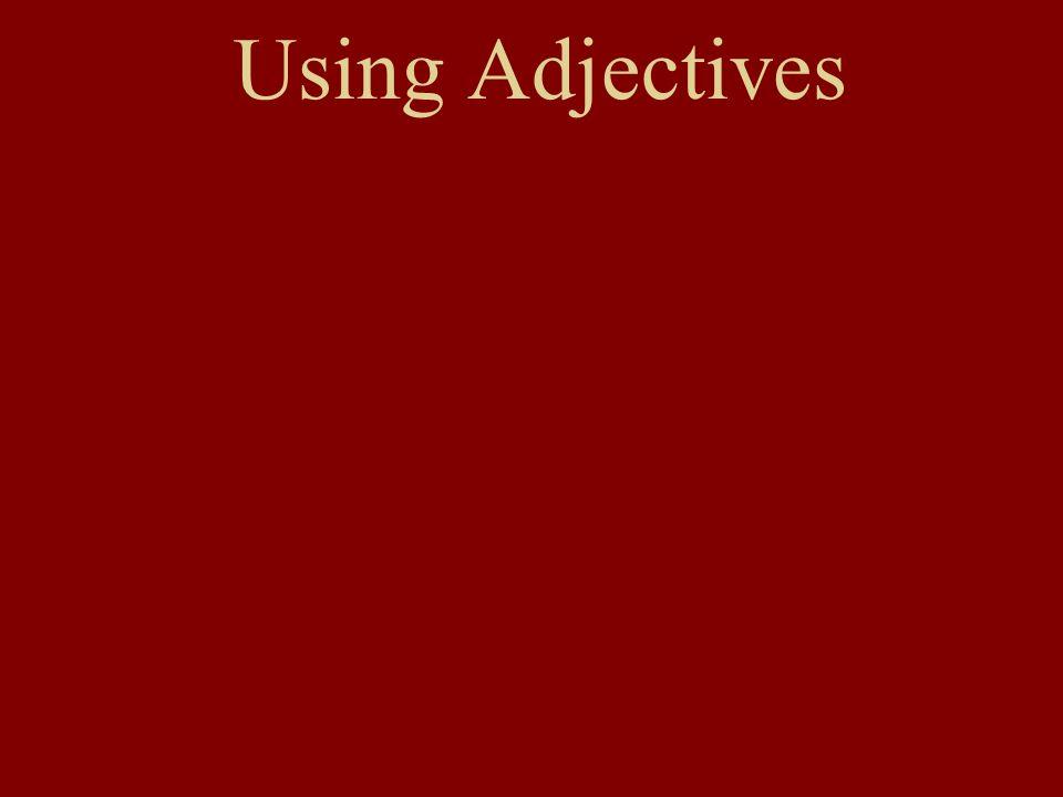 Adjective Endings Nominative Case (Subject of sentence, or Das ist….) When the definite article is present: d__ gut__ Mann d__ gut__ Fraud__ gut__ Leute d__ gut__ Kind Patterns: singularplural