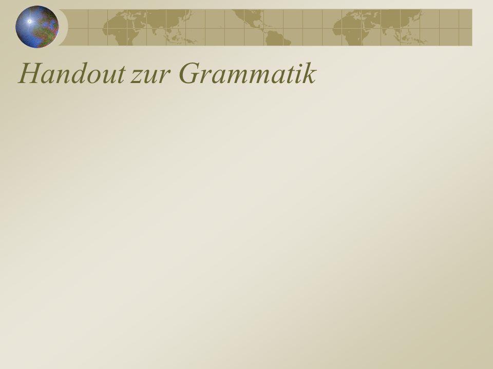 Handout zur Grammatik
