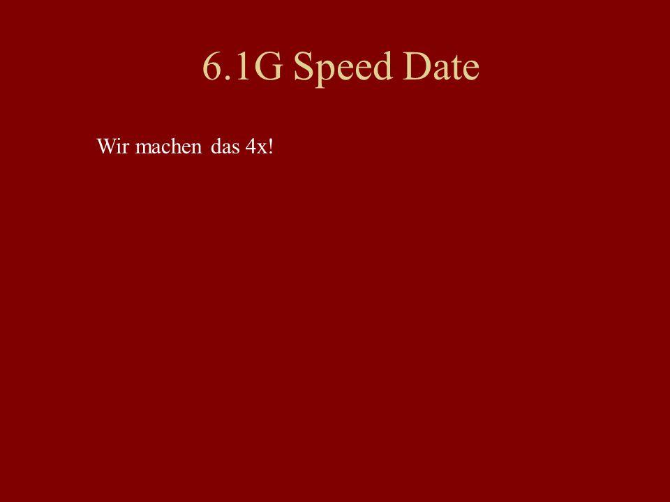 Speed Date #2 Was ist an Ihnen typisch amerikanisch.