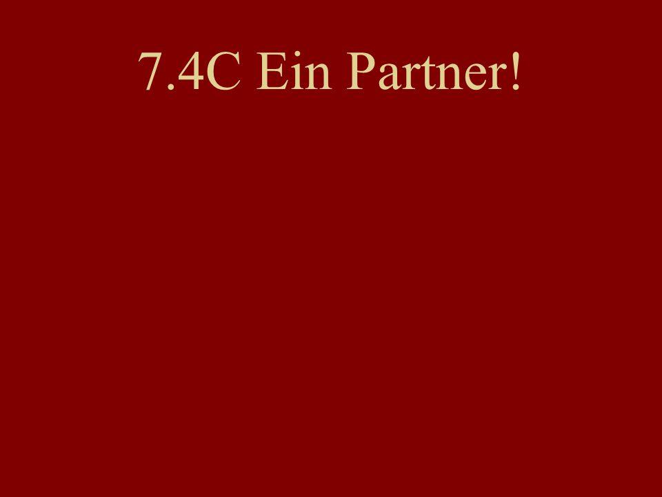 7.4C Ein Partner!
