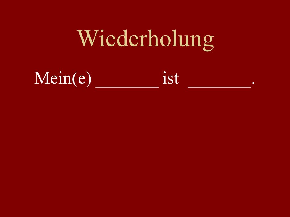 Wiederholung Gruppenwechsel! I / we / you / yall / he / she / they (am/is/are) _____________.