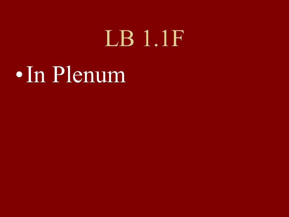 LB 1.1F In Plenum
