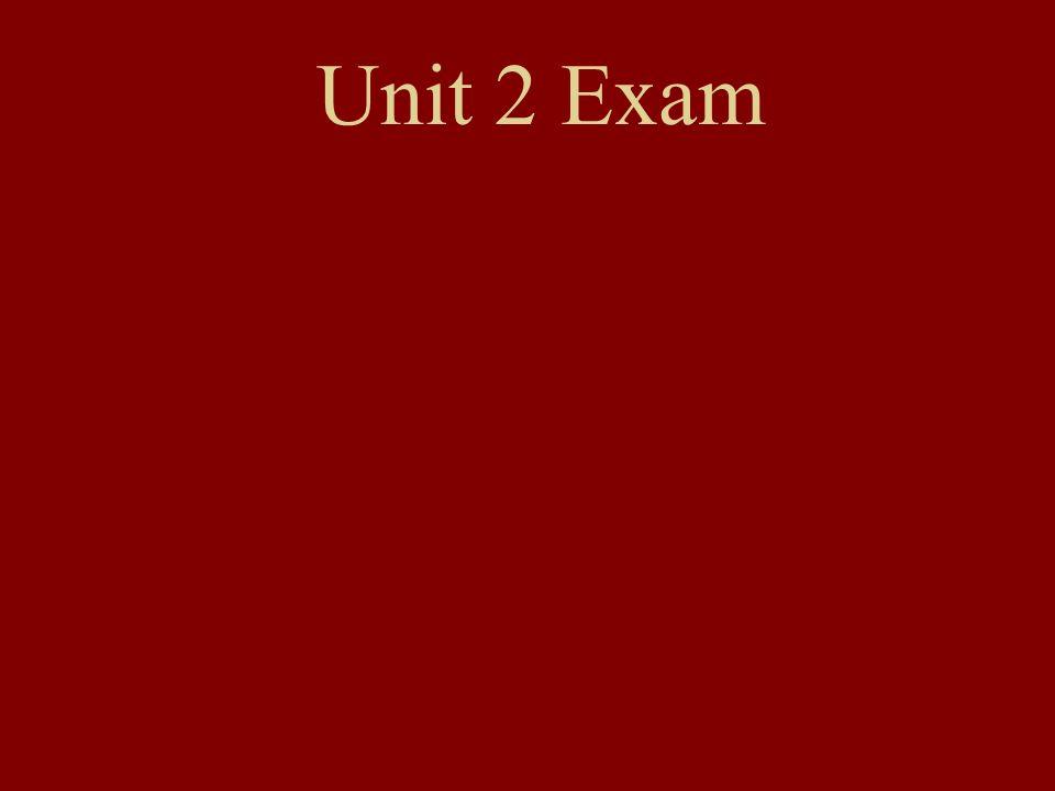 Unit 2 Exam