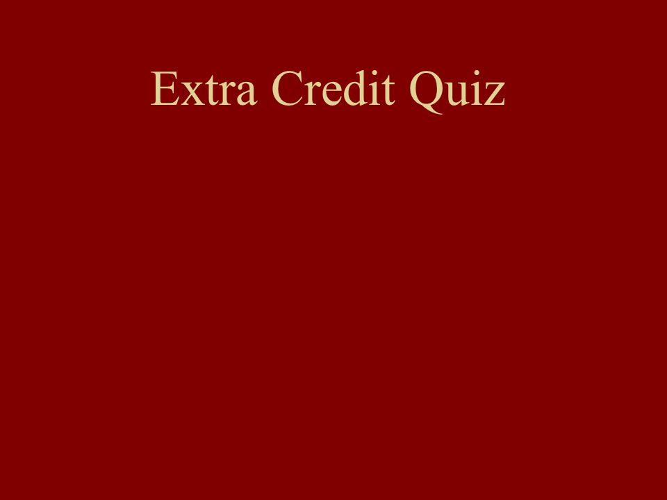 Extra Credit Quiz