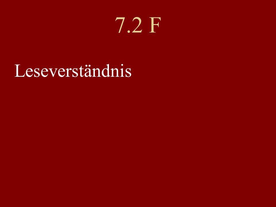 7.2 F Leseverständnis